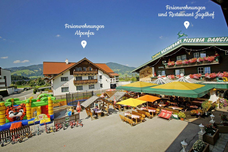 Kinderparadies im Restaurant Jagdhof - Ferienwohnungen in Flachau, Salzburger Land – Alpenfex